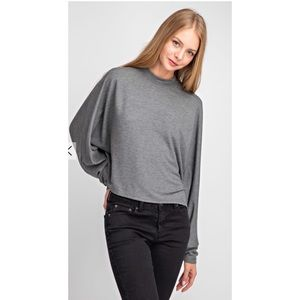 NWT Grey Dolman Sleeve Pullover